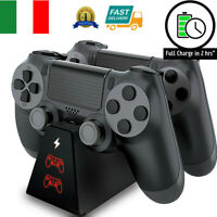 STAZIONE RICARICA CONTROLLER PS4 CARICABATTERIE DOCK DUALSHOCK 4 PLAYSTATION 4 *