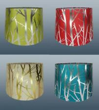 """11"""" Fabric Tree Branch Empire Drum Shade Table Ceiling Light Lampshade"""