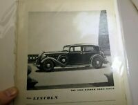 V-12 Lincoln Town Sedan 1932 Magazine clippings advertisement $3200 at Detroit