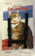 "Adjustable Pet Harness 10"" to 18"" Girth Black"