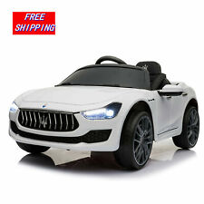 Maserati 12V Kids Ride On Car Rechargeable Toy Vehicle Remote Control MP3 White