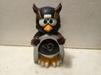 (1) St Louis Rams Thematic Owl NFL Garden Statue by Forever Collectibles