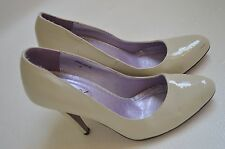 Womens Shoes heels nude patent pump size 9 go max cream