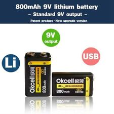 9V 800mAh Battery USB Rechargeable For RC Helicopter Model Microphon Batteries