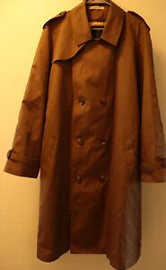 MISTY HARBOR Vtg Long RAINCOAT Rain Trench Coat Mens Size XL 46 khaki