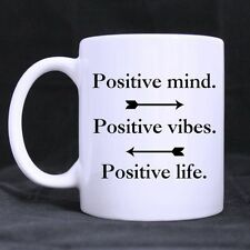 Details about  Positive Mind Positive Vibes Positive Life Funny Quote Coffee Mug