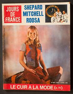 'JOURS DE FRANCE' VINTAGE MAGAZINE LEATHER FASHION ISSUE 16 FEBRUARY 1971