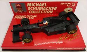 F1 1/43 FERRARI F300 TESTCAR FIORANO SCHUMACHER 1998 MINICHAMPS MSC #39