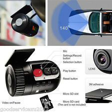 140° 12V Mini Full HD 1080P No Screen Car DVR Video Recorder Tachograph G-Sensor