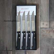 Coffret de 4 Couteaux STEAK ABS AU SABOT lame crantée 11.5cm 067112
