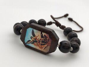 San Miguel Arcángel Bracelets hechas a mano (paquete de dos piezas)