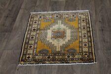 Small Unique Design S Antique Turkoman Persian Area Rug Oriental Carpet 2X2ʹ8