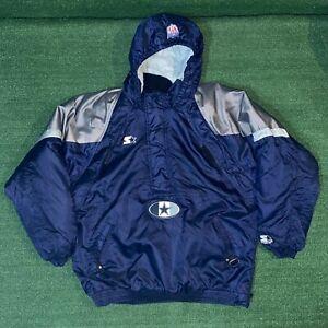 Vintage Starter NFL Pro Line Dallas Cowboys Football Blue Puffer Jacket - XL
