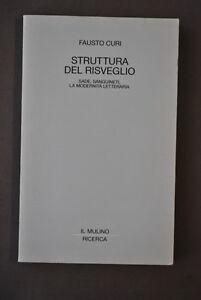 Letteratura Moderna Struttura del Risveglio Sade Sanguineti Curi Mulino 1991