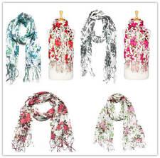 US Wholesaler-12PC-AssortedColor- Flower Printed Soft Large Size scarves #F1