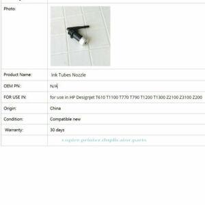 10Pcs Ink Tubes Nozzle Fit For HP Designjet t610 t1100 t770 t790 t1200