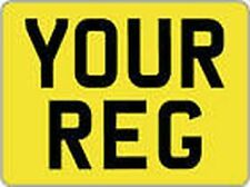 MOTORBIKE REAR YELLOW NUMBER PLATE 8 X 6 SHOW PLATE  Buy it Now !! £6.50 Each