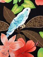 AH49 Montego Bay  Birds Parrot Tropical Rare Alexander Henry Cotton Quilt Fabric