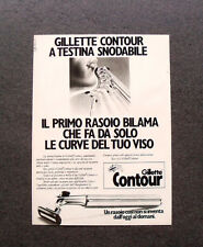 [GCG] M448 - Advertising Pubblicità - 1979 - GILLETTE CONTOUR  TESTINA SNODABILE