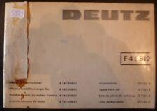 Deutz Motoren F4L 812 Ersatzteil-Katalog