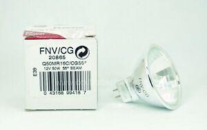 GE 20865 12V 50W Precise UV Control MR16 Light Bulb Q50MR16C/CG55° Glass Cover
