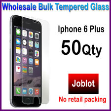 50 Pack Wholesale Job Lot bulk Tempered Glass Screen Protector for iphone 6 Plus