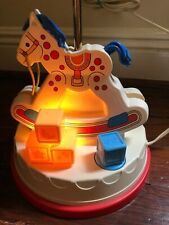 New listing Vintage Fisher Price Rocking Horse Lamp Night Light Music Box 1984 See Video