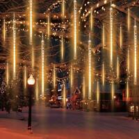 LED Meteor Shower Lights String Falling Rain Waterproof Christmas Xmas Decor US