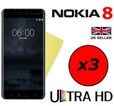 3x HQ ULTRA CLEAR HD SCREEN PROTECTOR COVER FILM SAVER GUARDS FOR NOKIA 8