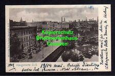 114245 AK Königshütte Oberschlesien 1902 Marktplatz