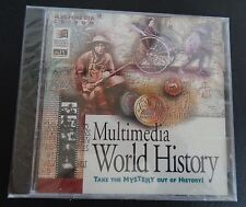 MULTIMEDIA WORLD HISTORY New CD ROM Take The Mystery Out of History FREE SHIP