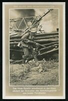 1941 Germany 3rd Reich Postcard WWII Hitler Wehrmacht Army Infantry Soldier RPPC