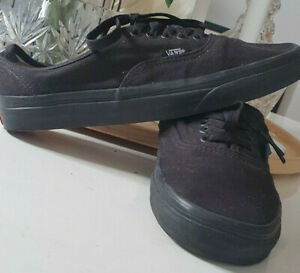 Womens old skool all black lace up vans size UK 6 EUR 39