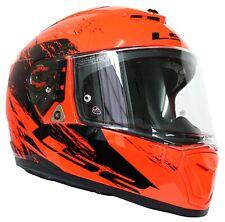 Helm LS2 Ff390 Breaker SWAT Gr. L Motorradhelm orange FLUO schwarz