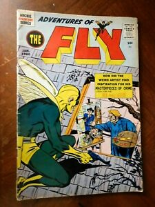 ADVENTURES of the FLY #4 (ARCHIE 1960)  VG (4.0) cond. 1st NEAL ADAMS Work