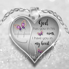 God Has You In His Arms, I Have You In My Heart Necklace Pendant Memorial Gift