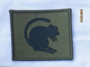 4th Armoured Brigade, TRF,Patch, schwarz auf oliv