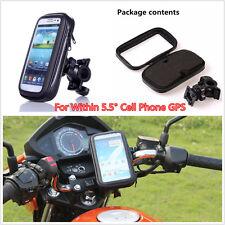 Motorcycle Bike Bicycle Waterproof Phone Case bag With Handlebar Mount Holder