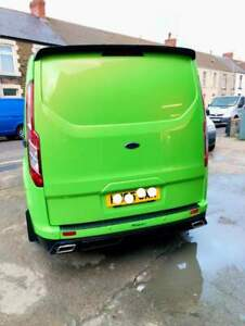 FORD TRANSIT CUSTOM  MSPORT/MS  look  DUAL EXHAUST SYSTEM WITH ENDS