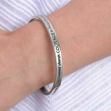 God grant me the Serenity Prayer Bible Silver Tone Prayer Cuff Bracelet Bangle