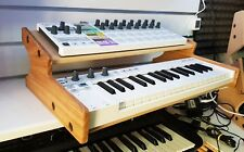 SOLID OAK ARTURIA KEYSTEP  STAND WITH ADDITIONAL SHELF FROM SYNTHS AND WOOD