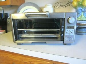 Breville Mini Smart Oven Silver Toaster Oven Model BOV450XL Counter Top Tested