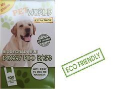1000 Pet world Biodegradable Dog Poo Bags Good Quality Strong With Tie Handles