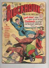 BLACKHAWK #36 1951 1ST APP TARYA! Chop Chop Solo Story! Complete Quality Comics