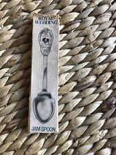 1981 Royal Wedding Charles And Diana Commemorative Silver Jam Spoon - Boxed
