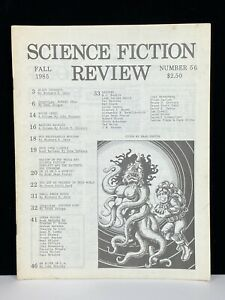Vintage Original Science Fiction Review SFR Magazine Fanzine Zine #56 Fall 1985