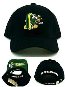 Oregon Ducks New Vault Puddles Black Green Yellow Adj Strapback Era Hat Cap