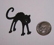 10 Halloween Black Cats Premade PAPER Die Cuts / Scrapbook & Card Making