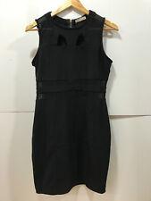 Sexy Hot Black Noir 42 44 UK14 XL dress fetish Kleid Bandage Bodycon stretch