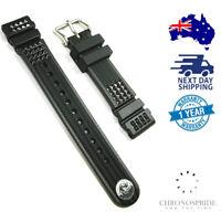 Genuine SEIKO DE39AZ Black Waffle Strap 20MM Rubber Marinemaster Strap SBDX MM30
